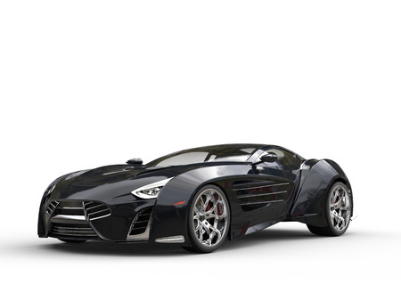 Black concept supercar - studio shot Stockfoto
