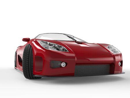 red sports car: Dark red sports car - headlights closeup