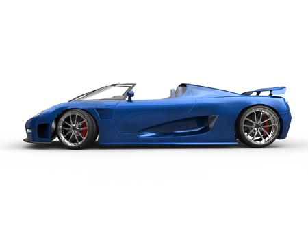 sportscar: Awesome blue sportscar - side view