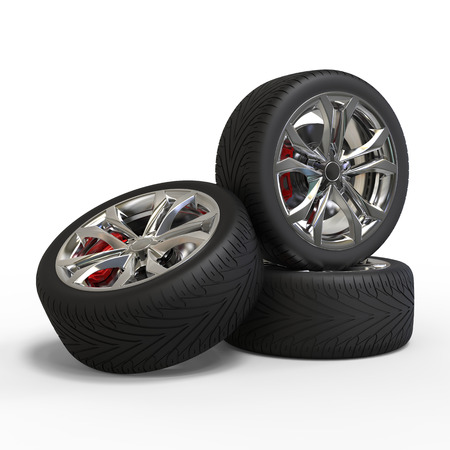 Three racing tires Фото со стока