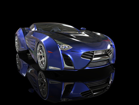 Supercar - blue pearlescent paint
