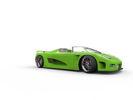 sportscar: Awesome green convertible sportscar