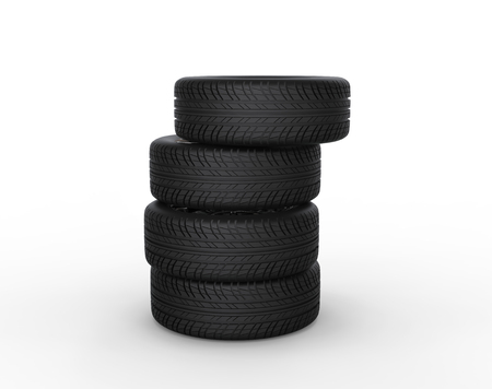 vulcanization: Tires stacked