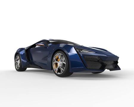 sportscar: Dark blue sportscar