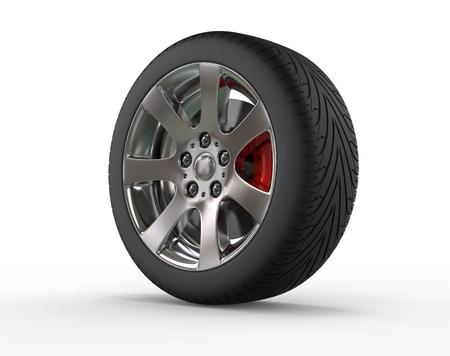 vulcanization: Car wheel - close up