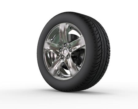 Car wheel - close up - rim variation