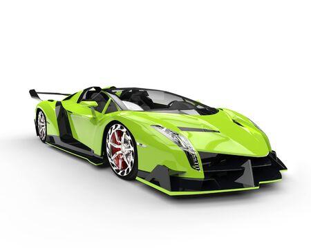 studio lighting: Green race supercar - studio lighting