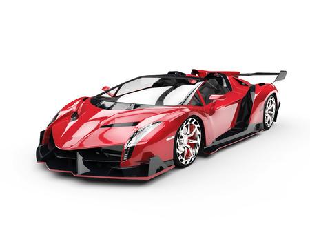 赤の超レースカー - スタジオ撮影 写真素材
