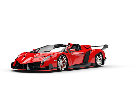 supercar: Red Supercar Design Stock Photo