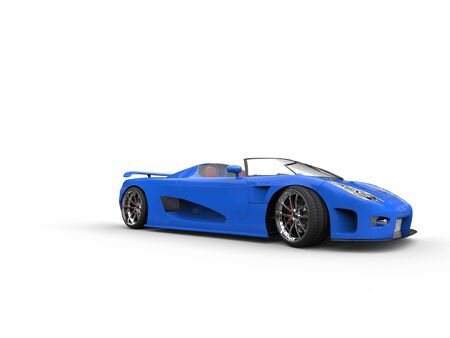 sportscar: Awesome blue convertible sportscar