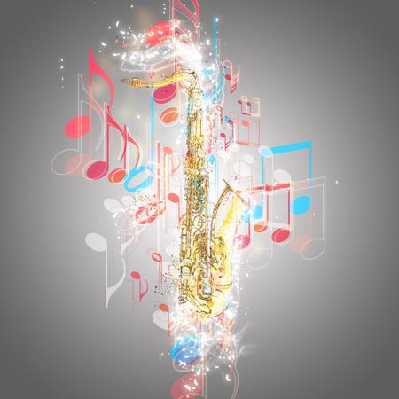 saxof�n: Saxof�n y de la m�sica
