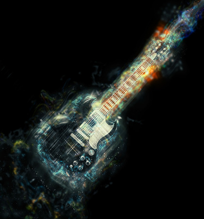 hardrock: Cosmic guitar illustration