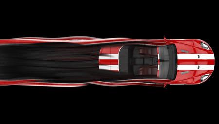 現代転換レース車 - クラシック ストライプ ペイントやコース 写真素材