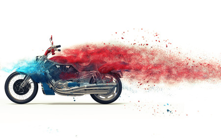 dispersion: Red bike - particle dispersion