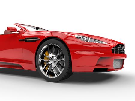 赤いコンバーチブルのスポーツカー - スタジオ撮影 - 正面カットを撮影