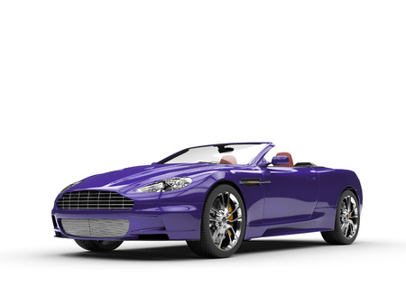 purple car: Purple sports car convertible