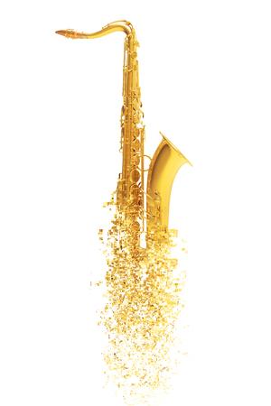 soprano saxophone: Saxofón - desintegración de partículas Foto de archivo