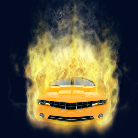 yellow car: Yellow Car - smoke FX