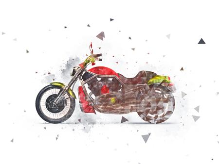 heavy effect: Heavy bike drawn effect Stock Photo
