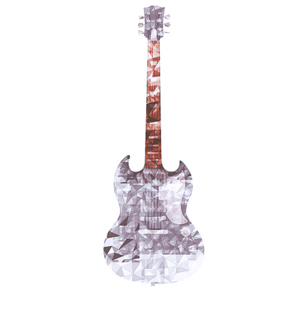 hardrock: Drawn polygonal guitar