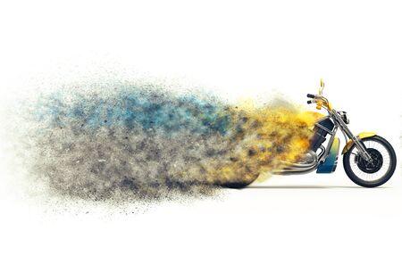 disintegration: Heavy bike particle disintegration