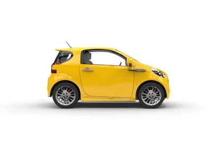 Small Car Compact Jaune