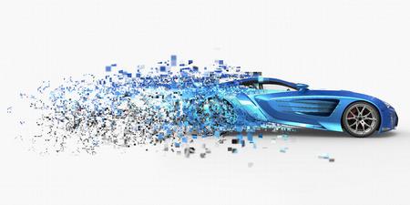 disintegration: Supercar Pixelated Disintegration