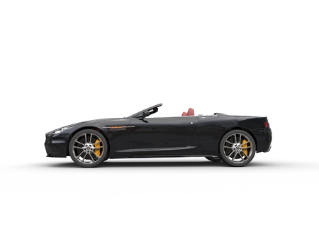 Black convertible sports car - side view