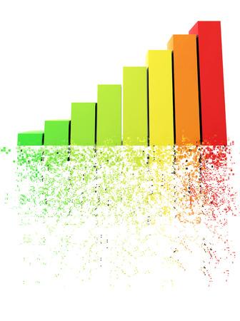 disintegration: Bars and charts - pixel disintegration