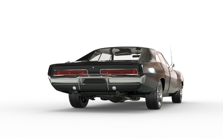 taillight: Black muscle car - taillight view.