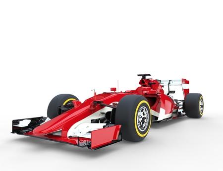 赤の数式レース車 - スタジオ撮影