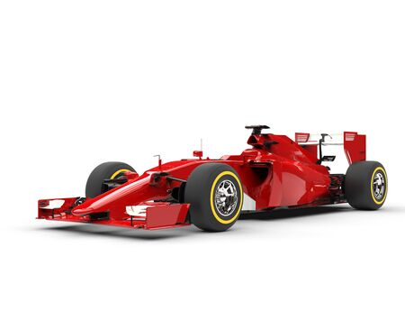 beauty shot: Awesome red Formula racing cars - beauty shot.