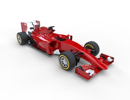 bolide: Red Formula racing car. Stock Photo