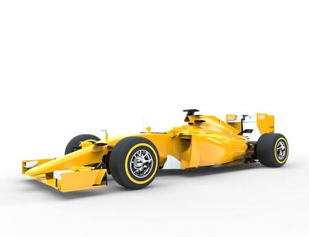bolide: Yellow Formula racing car