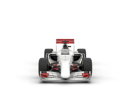 bolide: White Formula racing car - Front View
