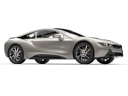 Metallic sports car - side view - studio shot