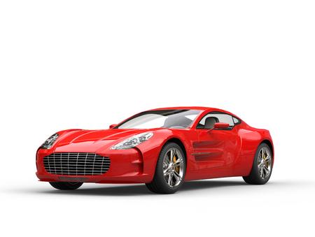 Rode sportwagen - beauty studio shot - geïsoleerd op witte achtergrond Stockfoto