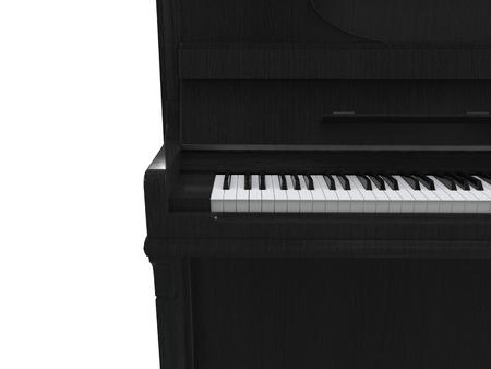 upright piano: Beautifull upright piano - cut shot - on white background - 3D render