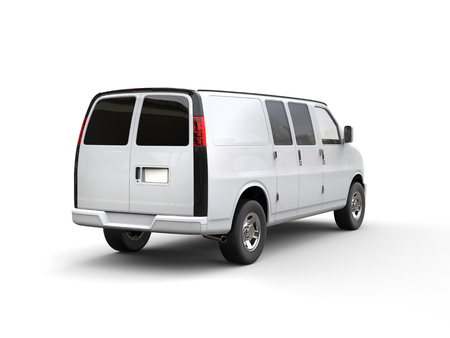 motor de carro: Panel Blanca - vista posterior - estudio de la iluminación tiro - aislada en el fondo blanco - ilustración 3D