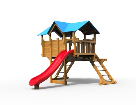 playhouse: Childrens playhouse - studio shot - isolated on white background - 3D render