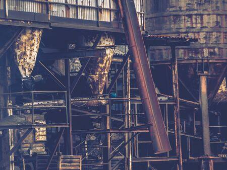 urban decay: Urban decay - big old rusty machinery Stock Photo