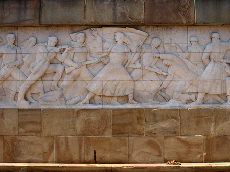 seconda guerra mondiale: Liberation of Belgrade, second world war monument Editoriali