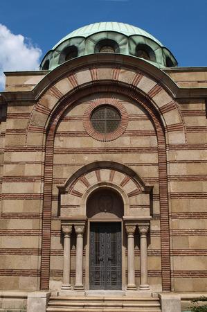 entryway: Grand entryway, old cemetary church, Belgrade, Serbia Stock Photo