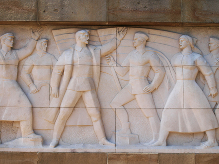 seconda guerra mondiale: Muro di eroi, Seconda Guerra Mondiale monumento - dettaglio girato in primo piano Editoriali