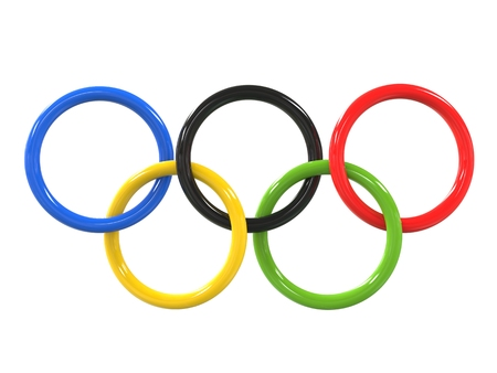 the olympic games: Olympic games rings - glossy finish - 3D Illustration