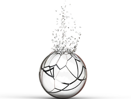 ball: Broken glass ball - 3D Illustration Stock Photo