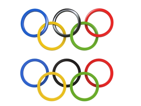 Olympic games rings - two variations - 3D Illustration