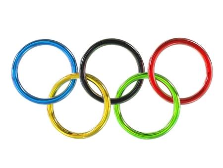 Olympic games rings - chromium metallic