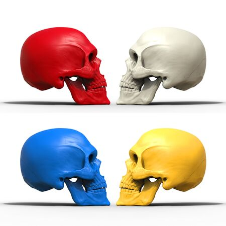 Multicolored skulls