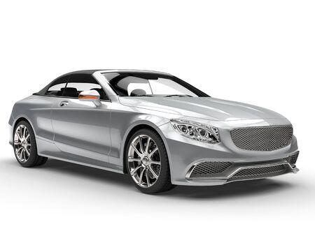 headlights: Hypercool silver modern car Stock Photo